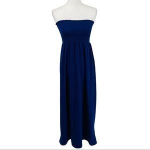 Old Navy Blue Strapless Maxi Dress - SP